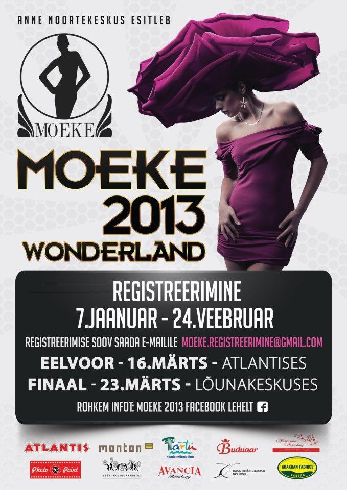 Noorte moekonkurss Moeke toimub 2013. kevadkoolivaheajal juba 16. korda