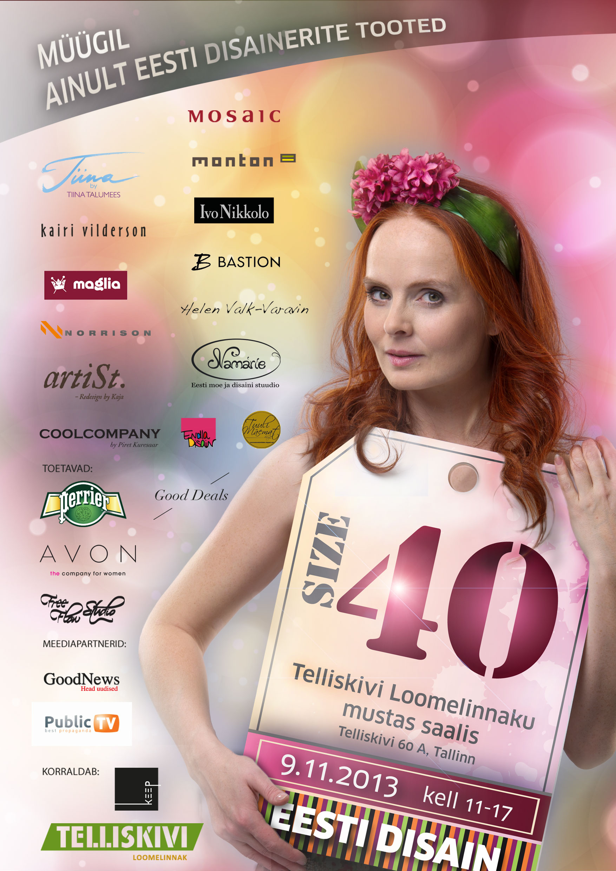 """9. novembril toimub Telliskivi Loomelinnaku moesündmuste sarja teine üritus """"SIZE 40"""""""