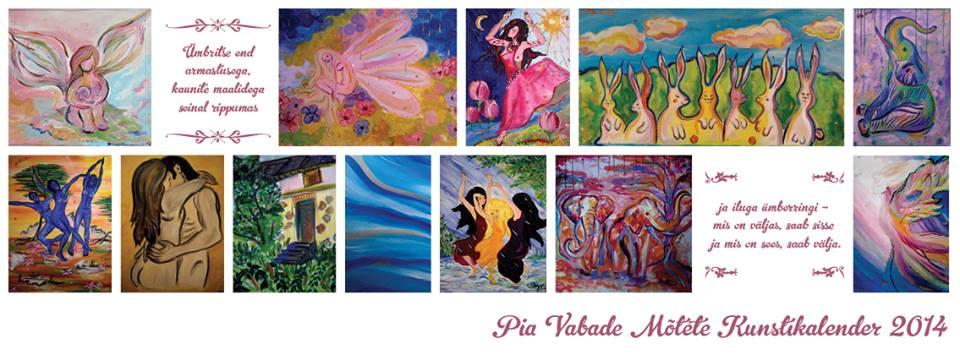 Kunstnik Pia annab välja oma maalidega uue kalendri!