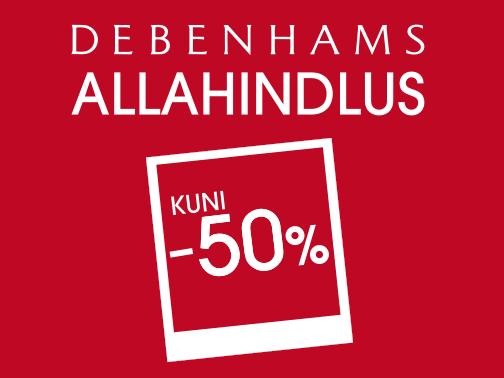 Hooaja allahindlus Debenhamsis kuni 50%