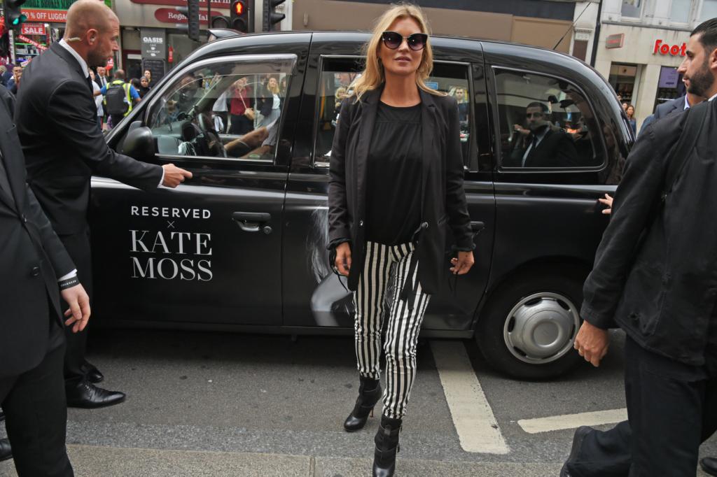 Kate Moss avas Reservedi esimese kaupluse Suurbritannias